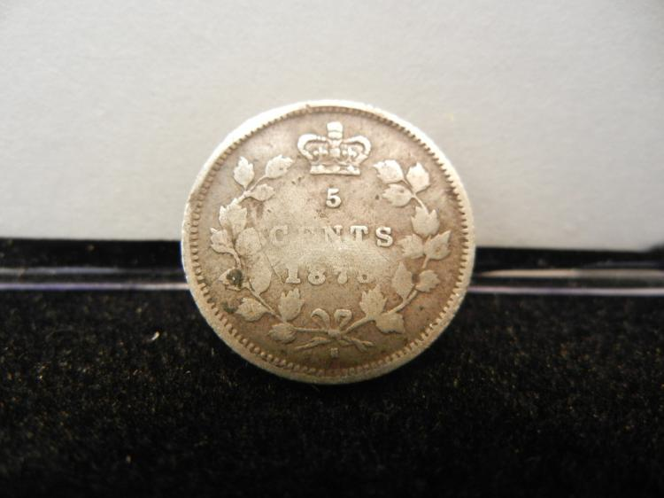 1875 Canadian 5 Cents Silver
