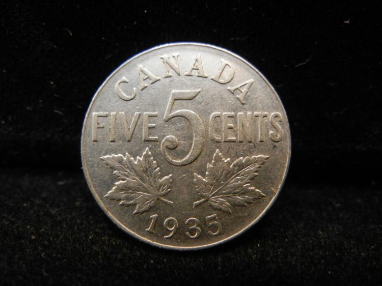 1935 Canadian 5 Cents