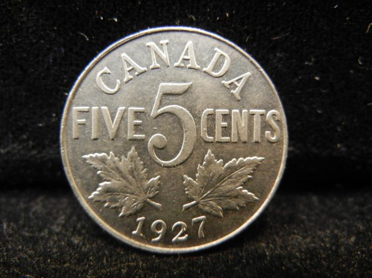 1927 Canadian 5 Cents