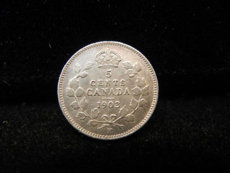 1903 Canadian 5 Cents Silver