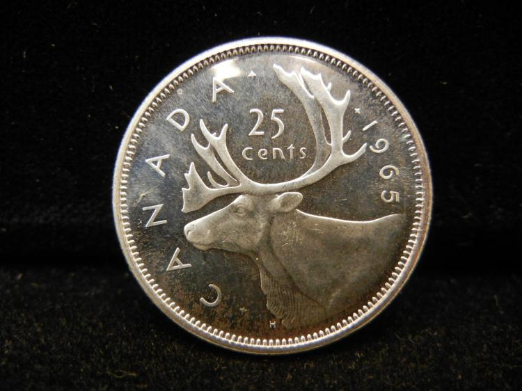 1965 Canadian 25 Cents