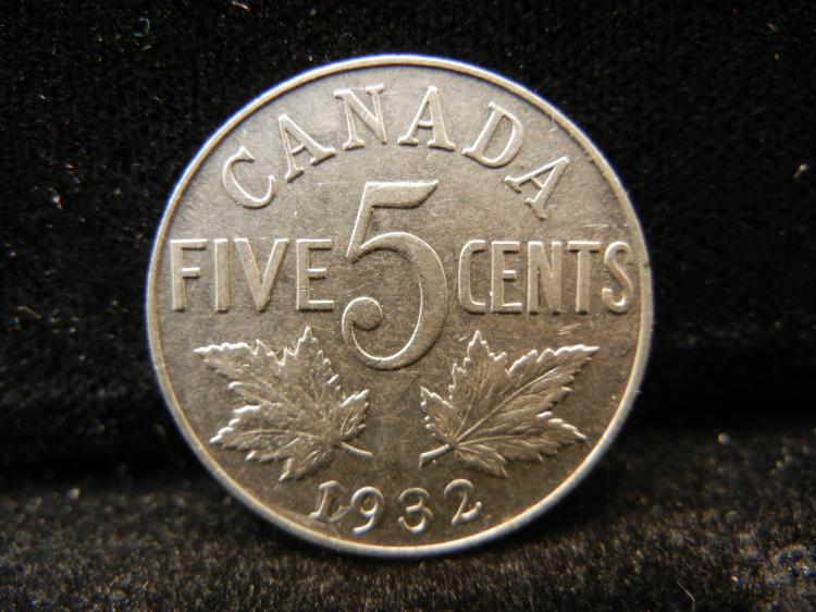 1932 Canadian 5 Cents