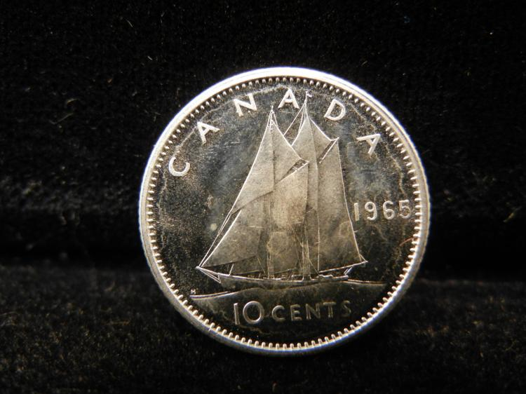 1965 Canadian 10 Cents