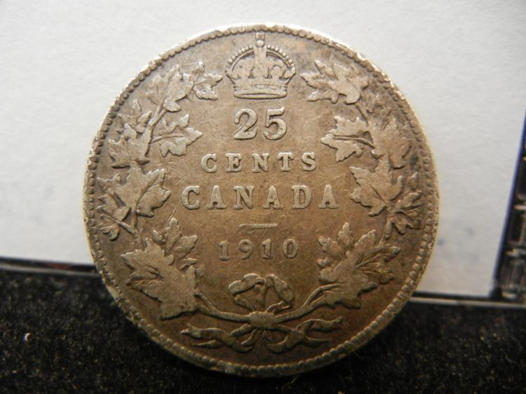 1910 Canadian 25 Cents