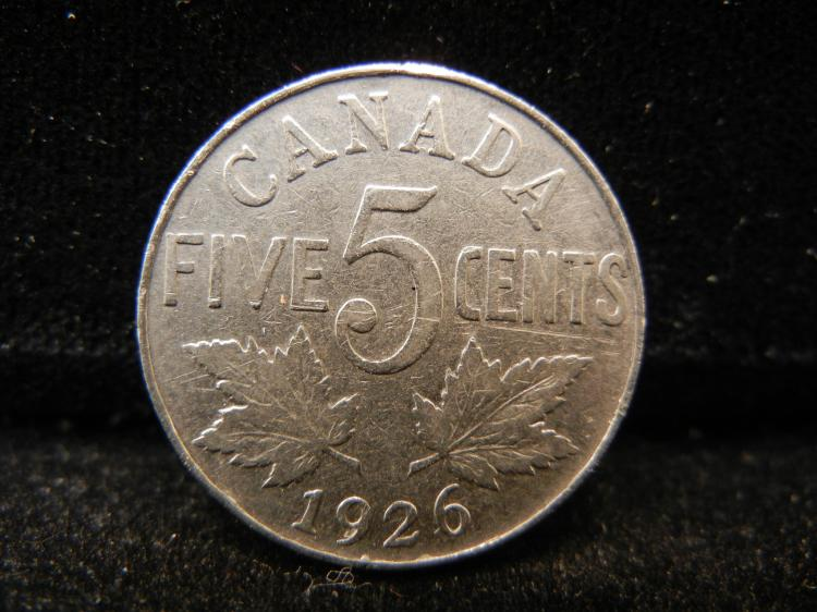 1926 Canadian 5 Cents