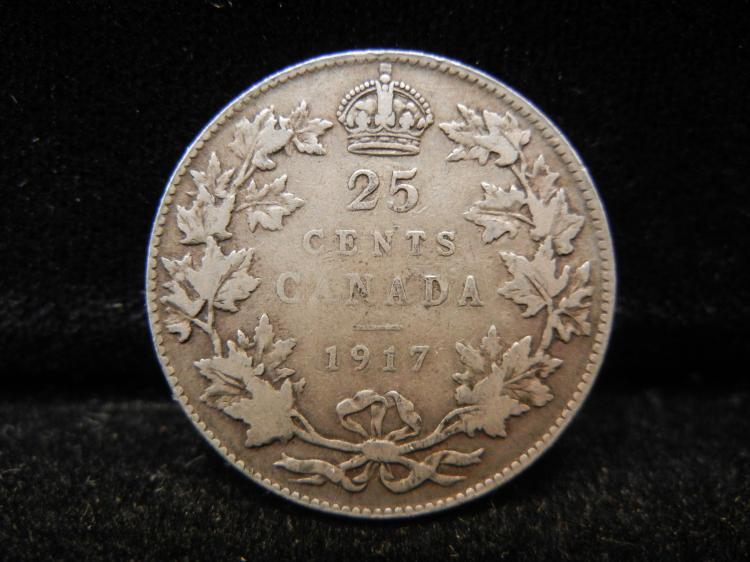 1917 Canadian 25 Cents