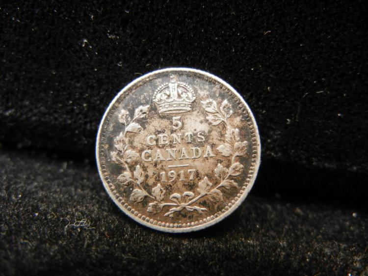 1917 Canadian 5 Cents Silver