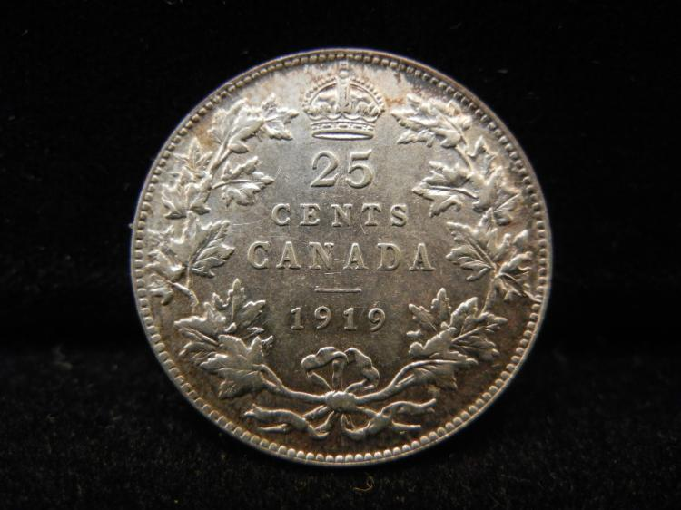 1919 Canadian 25 Cents