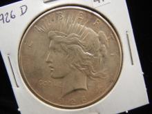 1926 D Peace Silver Dollar