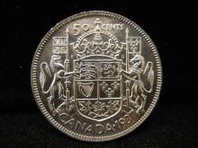 1937 Canadian 50 Cents Key Date 192,016 Minted
