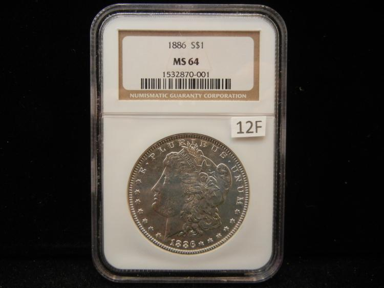 1886 Morgan Silver Dollar NGC MS64
