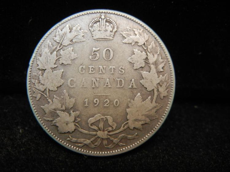 1920 Canadian 50 Cents