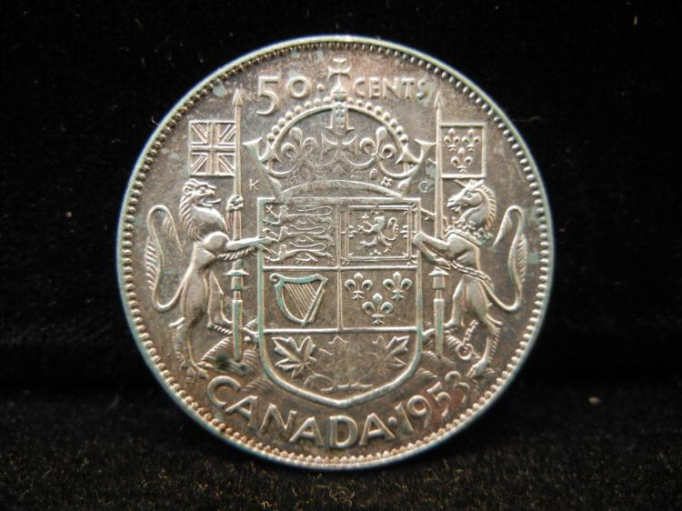 1953 Canadian 50 Cents