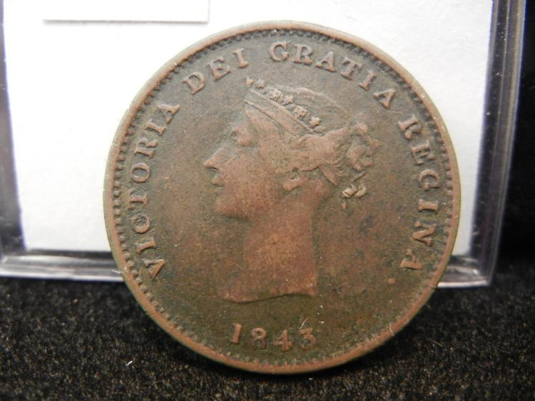 1843 New Brunswick Half Penny Token