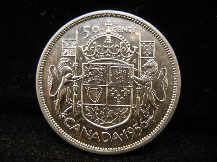 1956 Canadian 50 Cents
