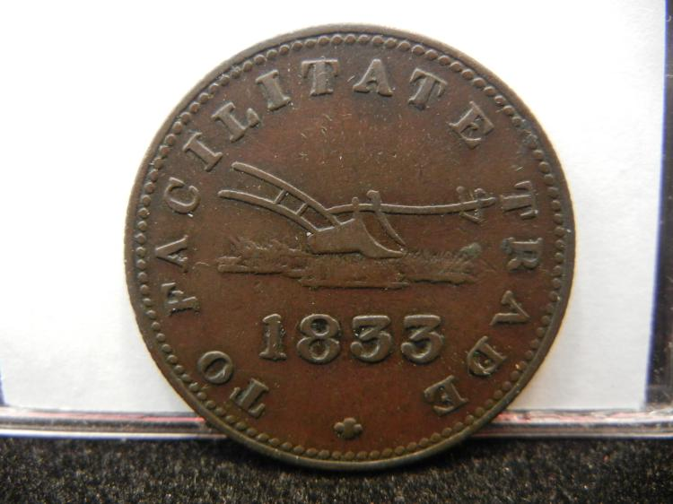 1833 Upper Canada Haf Penny Token Facilitate Trade