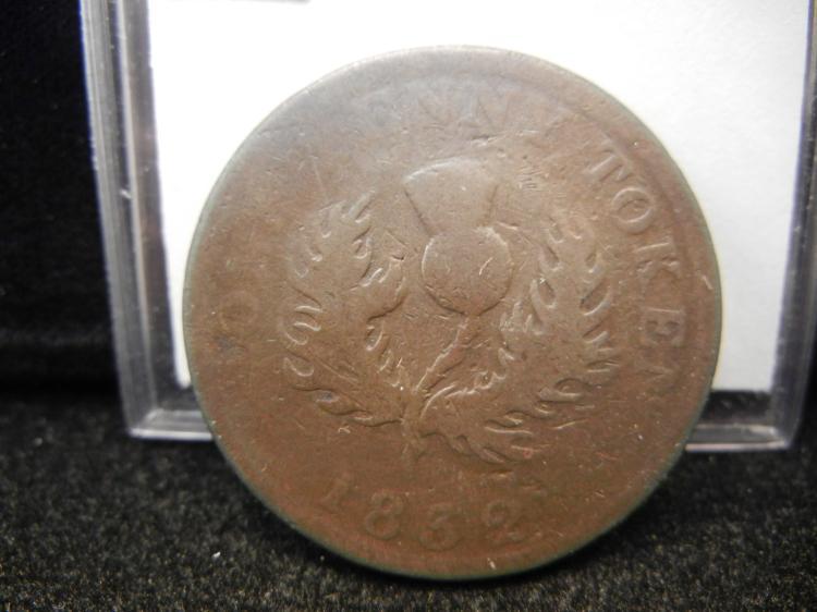 1832 Province of Nova Scotia One Penny Token