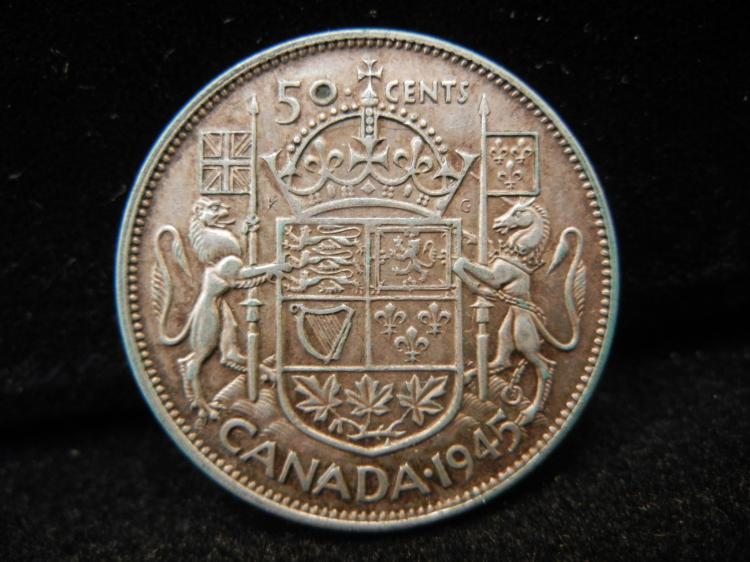 1945 Canadian 50 Cents