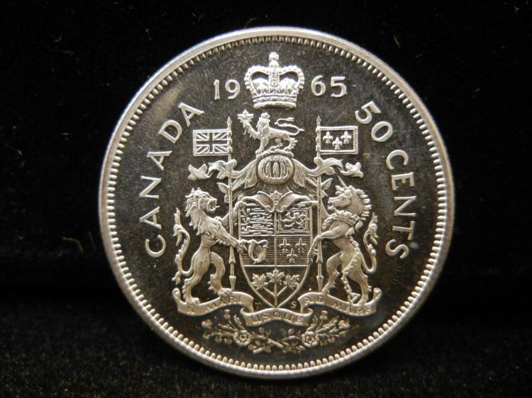 1965 Canadian 50 Cents