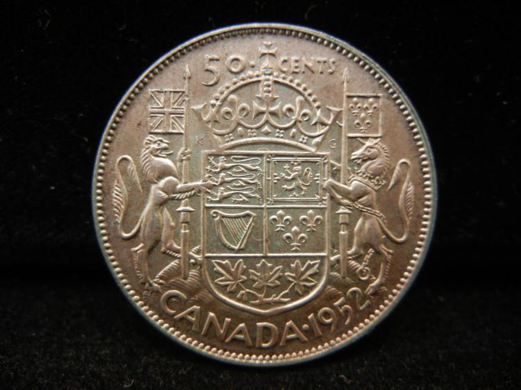 1952 Canadian 50 Cents