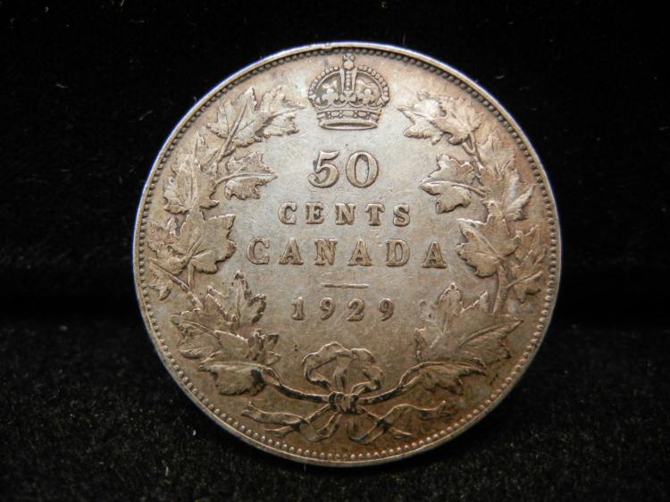 1929 Canadian 50 Cents 228,328 Minted