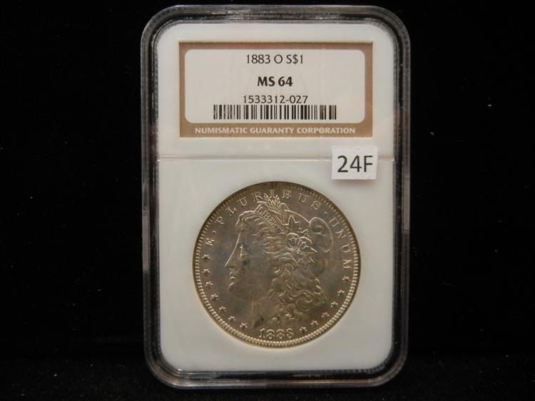 1883 O Morgan Silver Dollar NGC MS64