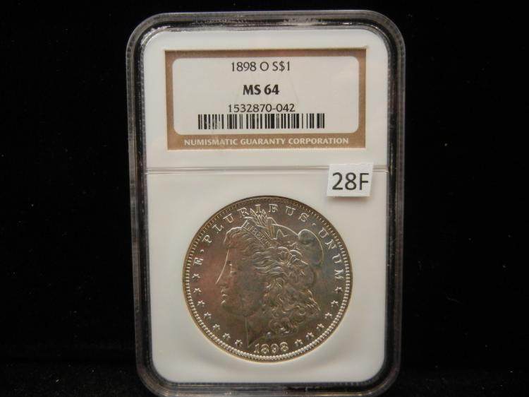 1898 O Morgan Silver Dollar NGC MS64