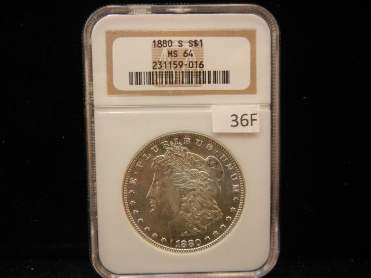 1880 S Morgan Silver Dollar NGC MS64