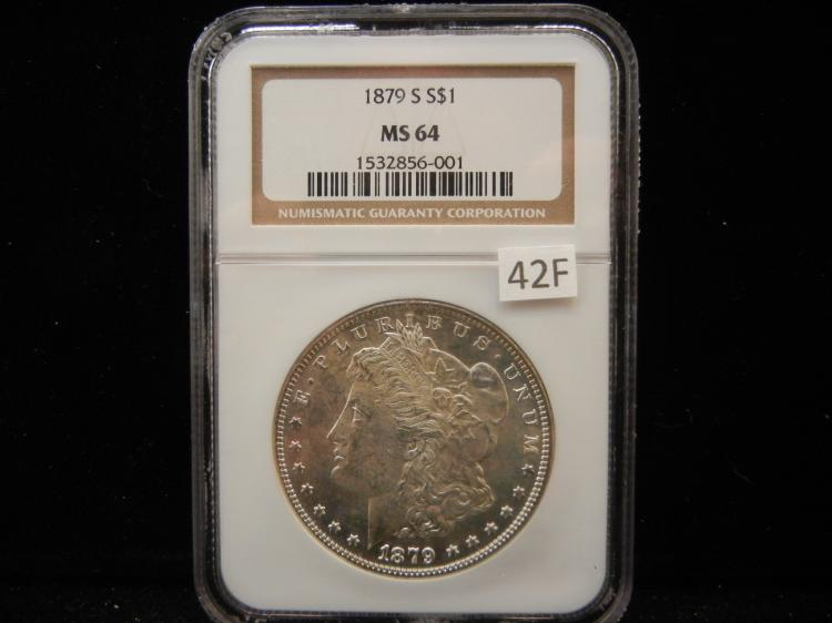 1879 S Morgan Silver Dollar NGC MS64
