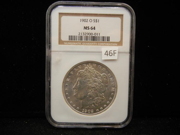 1902 O Morgan Silver Dollar NGC MS64