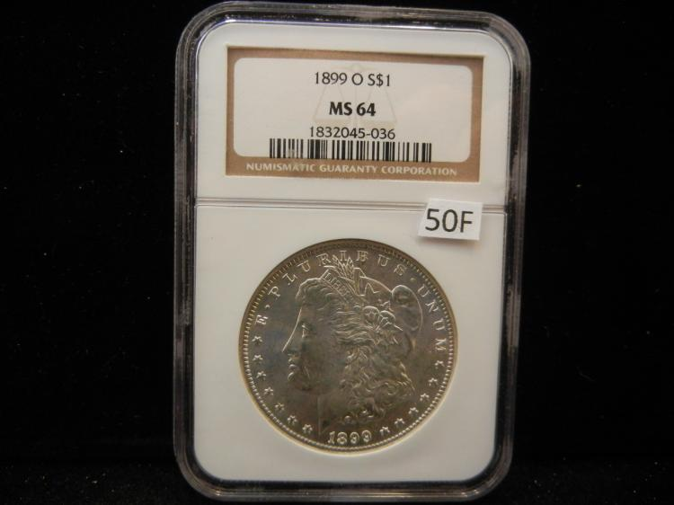 1899 O Morgan Silver Dollar NGC MS64