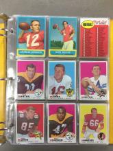 Football Album w/70+ Cards - 1963, 1969, 1972, 1973