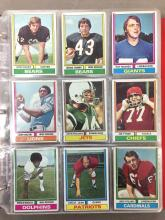 Football Album w/ approx 250 cards - 1974 & 1976
