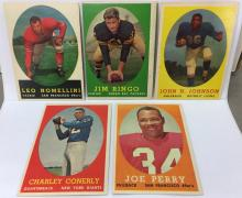 1958 Topps Lot of 5 - Leo Nomellini, Jim Ringo, John Henry Johnson, Charley Conerly, Joe Perry
