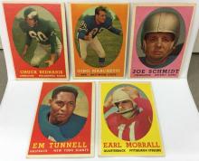 1958 Topps Lot of 5 - Chuck Bednarik, Gino Marchetti, Joe Schmidt, EM Tunnell, Earl Morrall