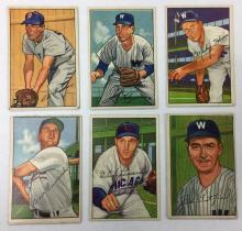 Lot of 6 1952 Bowman Baseball  - Billy Goodman - #81, 103, 135, 136, 159, 194