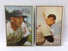 1953 Bowman Color High Numbers Al Lopez #143 & Pete Runnells #139