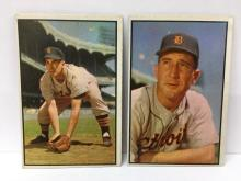 1953 Bowman Color High Numbers Johnny Pesky #134 & Fred Hutchinson #132