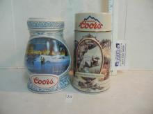 2 Coors Beer Collectable Ceramarte Steins