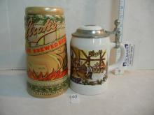 2 Stroh's Beer Collectable Steins
