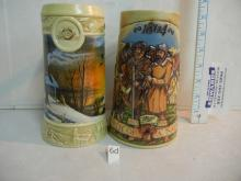 2 Miller Beer Collectable Steins