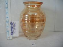 Carnival Glass Style Glass Vase