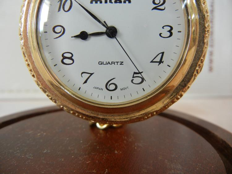 milan pocket with japan movement in glass display