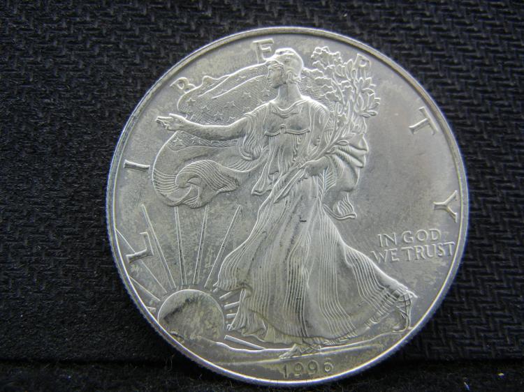 1996 silver American Eagle.