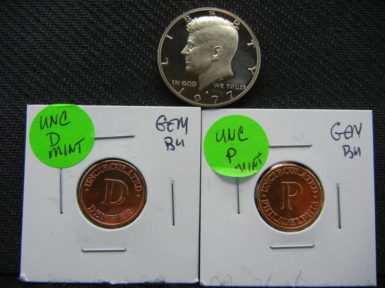 1977-S Kennedy Half Dollar - Proof & P&D US Mint BUs
