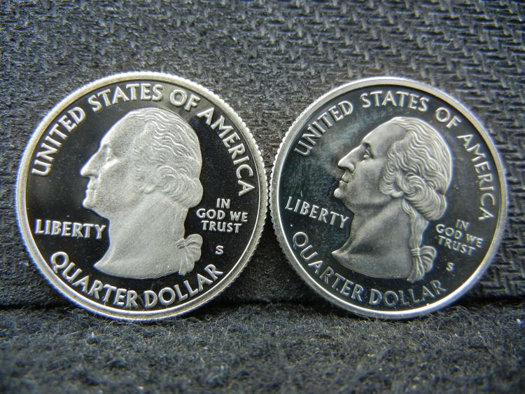 2004-S and 2009-S Quarter Dollars Proofs