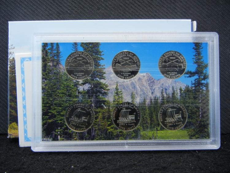 2004 Westward Journey Nickel Series Coin Set. Issued by U.S. Mint.
