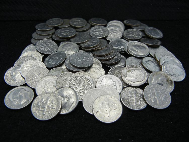 1960's. 1970s, and 1980s Roosevelt Dimes