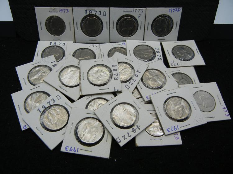 1972 and 1973 Jefferson Nickels