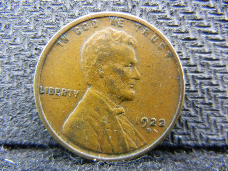 1922-D Lincoln Cent.